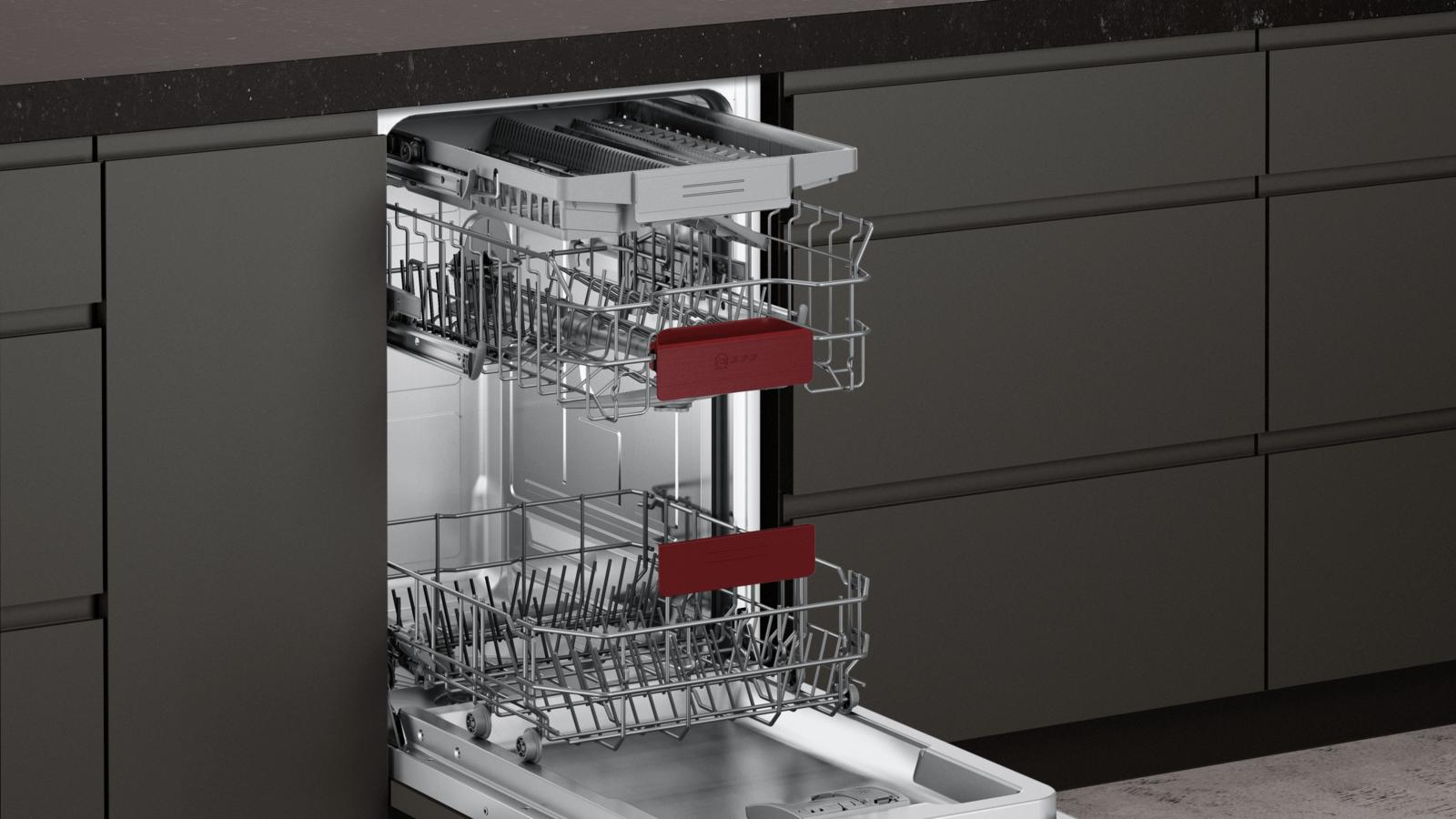 gk4508mn Neff s483m50s0e Le Lave-vaisselle intégrés en acier inoxydable EEK Bon état