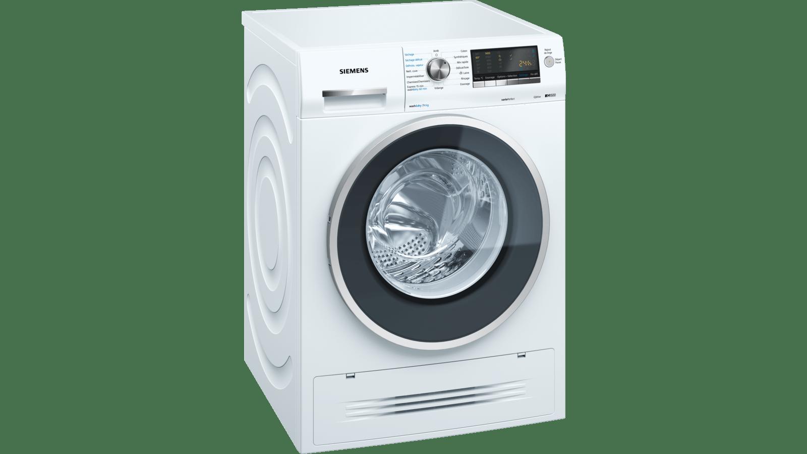 Machine À Laver Et Sèche Linge Intégré iq500 lave-linge séchant 7/4 kg 1400 trs/min wd14h464ff