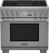 36 inch Professional Series Pro Grand Commercial Depth Dual Fuel Range PRD364NLGC