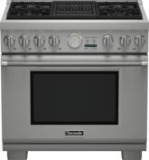 Cuisinière Professional bi-énergie de 36 po, série Pro Grand, de profondeur commerciale PRD364NLGC