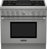 Série Professional Cuisinière au gaz, profondeur standard, 36 po PRG364NLH