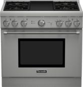 Série Professional Cuisinière au gaz, profondeur standard, 36 po PRG364GDH