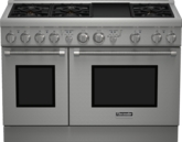 Série Professional Cuisinière au propane liquide, profondeur standard, 48 po PRL486GDH -  Table de cuisson en porcelaine