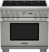 36 inch Professional Series Pro Grand Commercial Depth Dual Fuel Range PRD366JGC