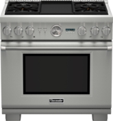 36 inch Professional Series Pro Grand Commercial Depth Dual Fuel Range PRD364JDGC