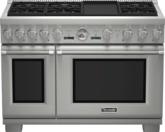 Cuisinière Professional entièrement au gaz de 48po, série Pro GrandMD, de profondeur commerciale, PRG486JDG
