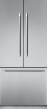 36 inch Stainless Steel Built In French Door bottom Freezer, Pre-Assembled, Professional Handle T36BT920NS