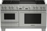 Cuisinière à vapeur bi-énergie Pro Grand de 60 po à profondeur commerciale de la série Professional - PRD606RESG
