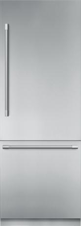 Réfrigérateur de 30 po à deux portes en acier inoxydable, préassemblé et encastrable, avec congélateur inférieur et poignée Professional T30BB920SS