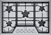 SGSX305TS ® offers an impressive 30-inch gas cooktop with 5 patented Star® burners, including a center-mounted power burner, 2 ExtraLow® Select simmer burners, and 52,000 BTUs of overall heat output. 30-Inch Masterpiece® Star® Burner Gas Cooktop, ExtaLow® Select