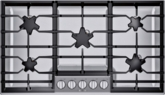Table de cuisson au gaz de 36 po à brûleur surélevé StarMD de la série MasterpieceMD