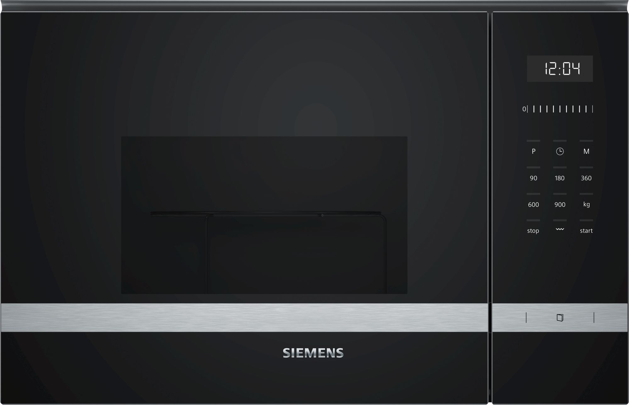 iQ500 Compacte microgolfoven 900W - 1200W grill - cookControl 8 - LED verlichting -  25 liter (draaiplateau 31,5cm) Inox