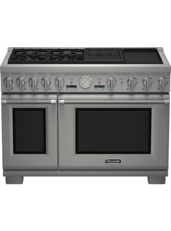 Cuisinière Professional bi-énergie avec vapeur de 48 po, série Pro Grand, de profondeur commerciale PRD484NCGC