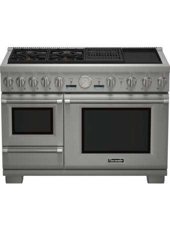 Cuisinière Professional bi-énergie avec vapeur de 48 po, série Pro Grand, de profondeur commerciale PRD48NCSGC