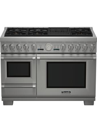 Cuisinière Professional bi-énergie avec vapeur de 48 po, série Pro Grand, de profondeur commerciale PRD48NLSGC