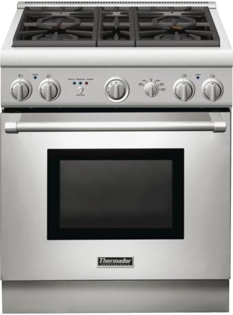 Série Professional Cuisinière mixte, profondeur standard, 30 po PRD304GHC - Table de cuisson en porcelaine
