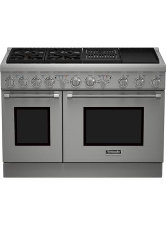 Cuisinière mixte, profondeur standard, 48 po, Pro Harmony PRD484NCHC