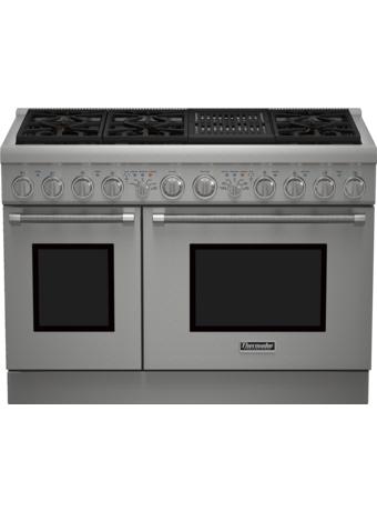 Cuisinière mixte, profondeur standard, 48 po, Pro Harmony PRD486NLHC
