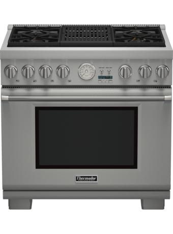 Cuisinière Professional entièrement au gaz de 36 po, série Pro Grand, de profondeur commerciale PRG364NLG