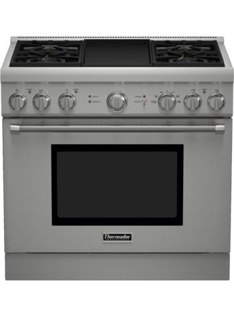 Série Professional Cuisinière mixte, profondeur standard, 36 po PRD364GDHC - Table de cuisson en porcelaine