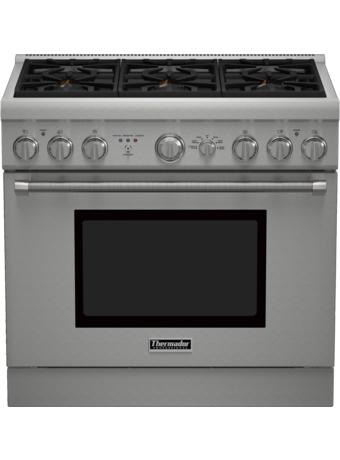 Série Professional Cuisinière mixte, profondeur standard, 36 po PRD366GHC - Table de cuisson en porcelaine