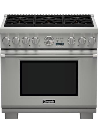 Cuisinière Professional entièrement au gaz de 36po, série Pro GrandMD, de profondeur commerciale, PRG366JG