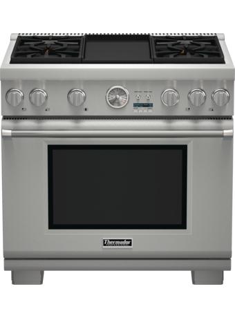 Cuisinière Professional entièrement au gaz de 36po, série Pro GrandMD, de profondeur commerciale, PRG364JDG