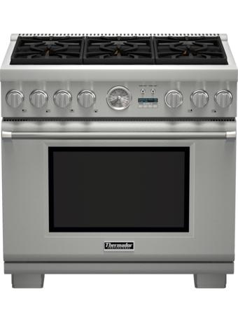 Cuisinière Professional bi-énergie de 36 po, série Pro Grand, de profondeur commerciale PRD364JDGC