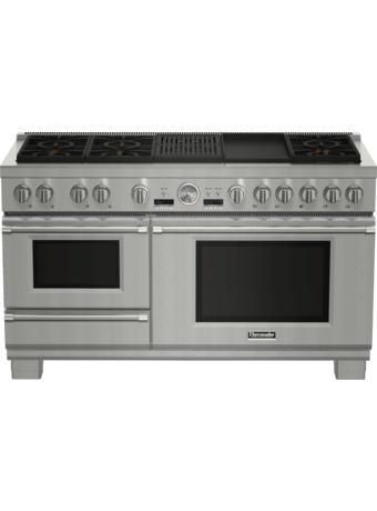 Cuisinière À Vapeur Bi-Énergie Pro Grand De 60 po À Profondeur Commerciale De La Série Professional - PRD606RCSG