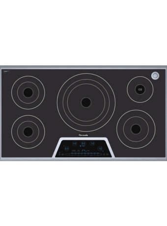 "Masterpiece™ Deluxe 36"" Electric Cooktop with Touch Control and Sensor Dome™ and Bridge Element CES365FS"