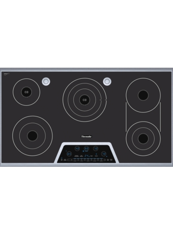 "Masterpiece™ Deluxe 36"" Electric Cooktop with Touch Control and Sensor Dome™ and Bridge Element CES366FS"
