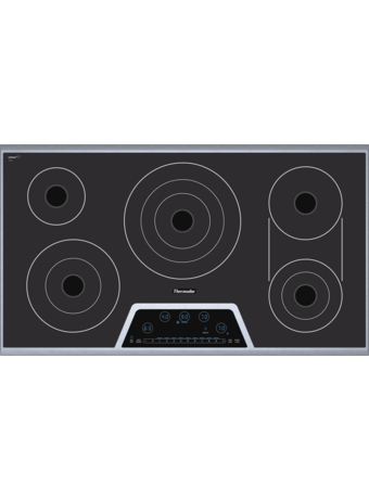 "Masterpiece™ Deluxe 36"" Electric Cooktop with Touch Control and Bridge Element CET366FS"