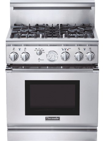 Professional Series 30 inch Gas Commercial-depth Range PRG304EG - Stainless steel