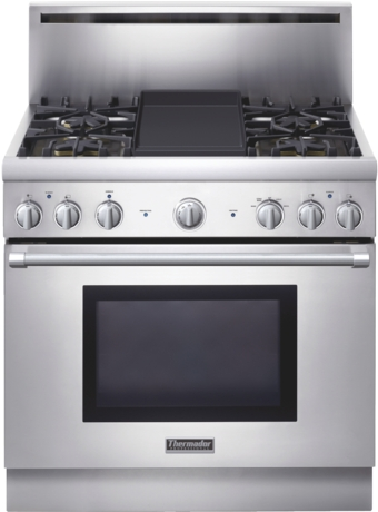 Professional Series 36 inch Gas Standard-depth Range PRG364EDH - Stainless Steel