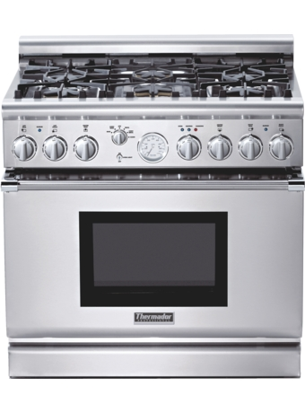 Professional Series 36 inch Gas Commercial-depth Range PRG366EG - Stainless steel