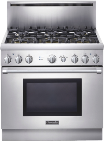 Professional Series 36 inch Gas Standard-depth Range PRG366EH - Stainless Steel