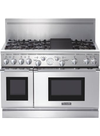 Série Professional Cuisinière au gaz, profondeur commerciale, 48po (122 cm) PRG486EDG - Acier inox