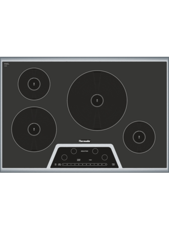 """Masterpiece™ 30"""" Induction Cooktop Black with Stainless Steel Frame Silver Mirrored Finish CIT304GB"""