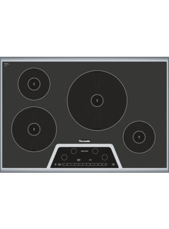MasterpieceTM Table de cuisson à induction de 30 po Noir avec cadre en acier inoxydable Fini miroitant argenté CIT304GB