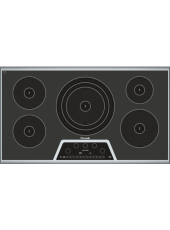 "Masterpiece™ 36"" Induction Cooktop Black with Stainless Steel Frame CIT365GB"