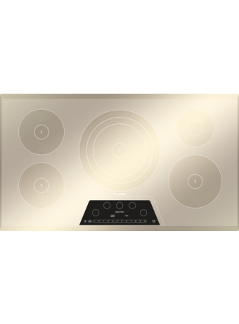 "Masterpiece™ 36"" Induction Cooktop Silver Mirrored Finish CIT365GM"