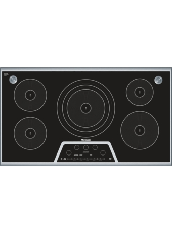 "Masterpiece™ 36"" Induction Cooktop with Sensor Dome™ Black with Stainless Steel Frame CIS365GB"