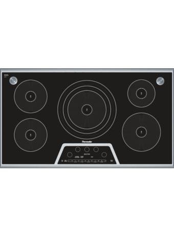 MasterpieceTM Table de cuisson à induction de 36 po avec capteur Sensor DomeTM Noir avec cadre en acier inoxydable CIS365GB