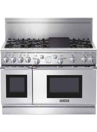 Professional Series 48 inch Gas Commercial-depth Range PRG486EDPG - Porcelain Rangetop