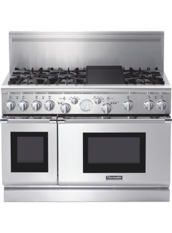 Série Professional Cuisinière mixte, profondeur commerciale, 48 po PRD486EDPG - Table de cuisson en porcelaine