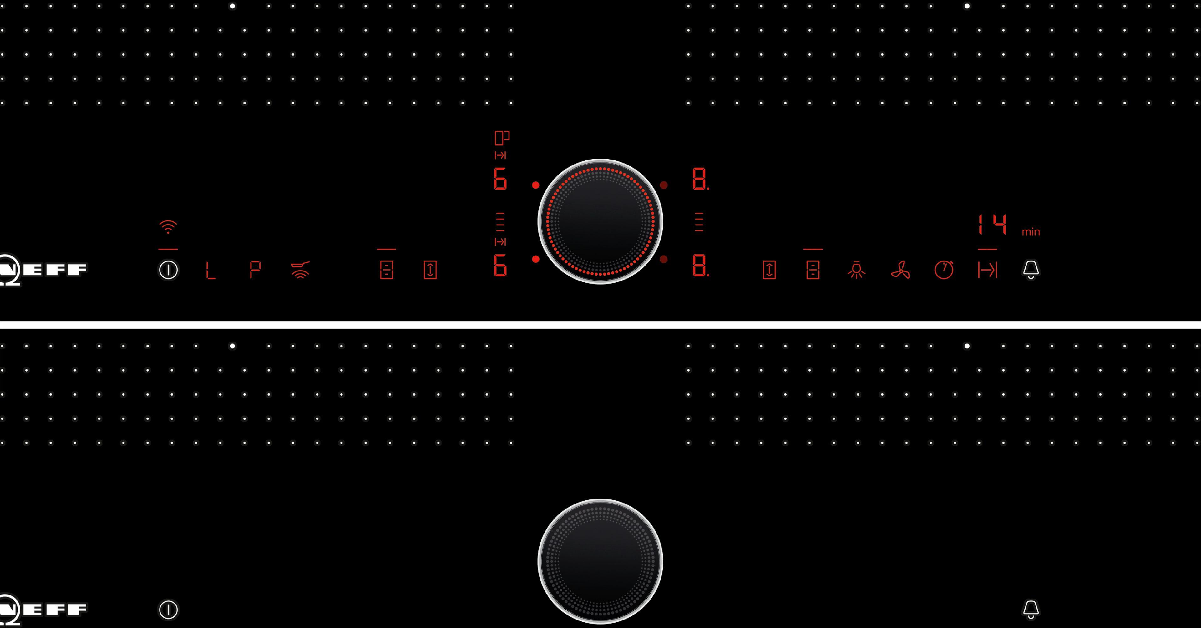 Inductie - vitrokeramisch - 60 cm FlexInductie Plus, 4 kookz. (2 FlexInd.+ midd.z.), TwistPad Fire, FryingS., PowerMove, PowerTransfer, HoodControl