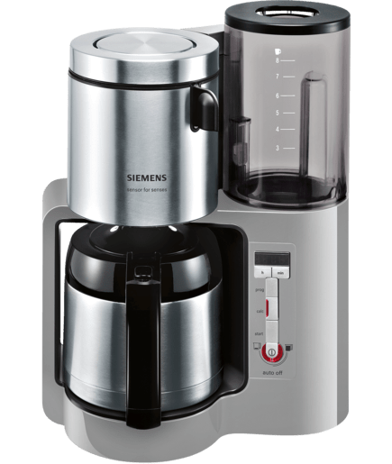thermo kaffeemaschine 8 tassen kunststoff mit edelstahl tc86505 siemens. Black Bedroom Furniture Sets. Home Design Ideas
