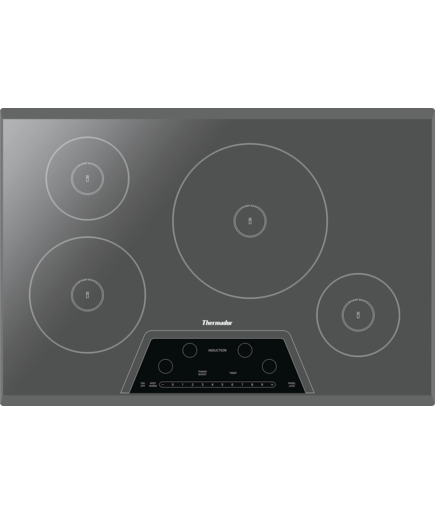 30 Inch Masterpiece Induction Cooktop Silver Mirror Frameless Cit304km Thermador