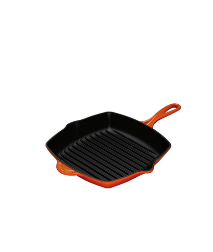 pfanne le creuset skillet grillpfanne quadr 26cm in ofenrot 00572206. Black Bedroom Furniture Sets. Home Design Ideas