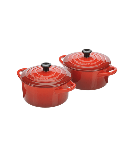 cocotte le creuset 2er set cocotte kirschrot 00573950. Black Bedroom Furniture Sets. Home Design Ideas